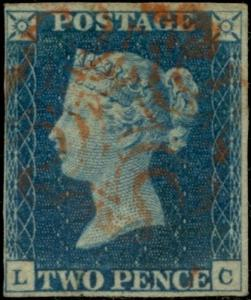 GB #2 F-VF USED WITH RED MALTESE CANCEL BQ357