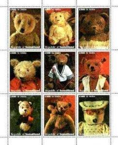 Somaliland 1999 TEDDY BEARS Sheet Perforated Mint (NH)