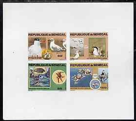 Senegal 1981 National Parks imperf deluxe sheet containin...