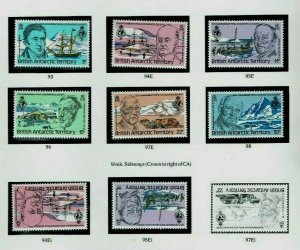 British Antarctic Territory:1980, Geographical Society, MNH + Gutter pairs