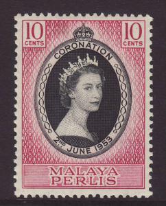 1953 Malaya – Perlis 10c Coronation Mint