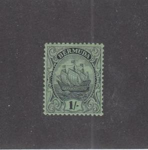 BERMUDA (MK979) # 92 VF-MH  1sh  CARAVEL /EMERALD