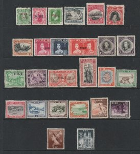 Niue a small mainly MH lot of pre Qe2
