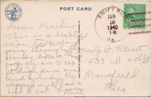 United States Virginia Swift Run 1940 4c-bar  1882-1966  PC.