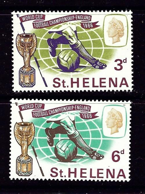 St Helena 188-89 Hinged 1966 World Cup Soccer