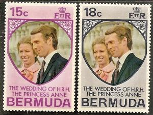 Bermuda MNH 302-3 Princess Anne Wedding