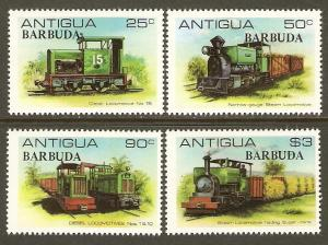 Barbuda #469-72 NH Sugar Cane Railway Ovpt. Barbuda