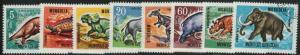 MONGOLIA CTO Scott # 447-454 Prehistoric Beasts (8 Stamps)