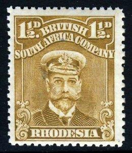 RHODESIA King Geprge V 1919 1½d. Brown-Ochre Admiral SG 197 MINT