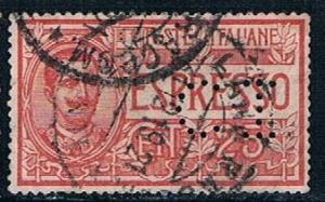Italy E1, 25c King Victor Emmanuel III, used, VF