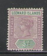 Leeward Islands Sc 1 1890 1/2d Victoria stamp mint