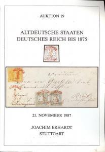Erhardt: Sale # 19  -  Altdeutsche Staten Deutsches Reich...