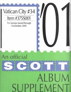 Scott Vatican City #34 Supplement 2001