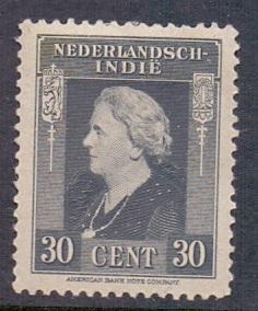 Netherlands Indies 1945 MH 259  Wilhelmina  30  ct     #
