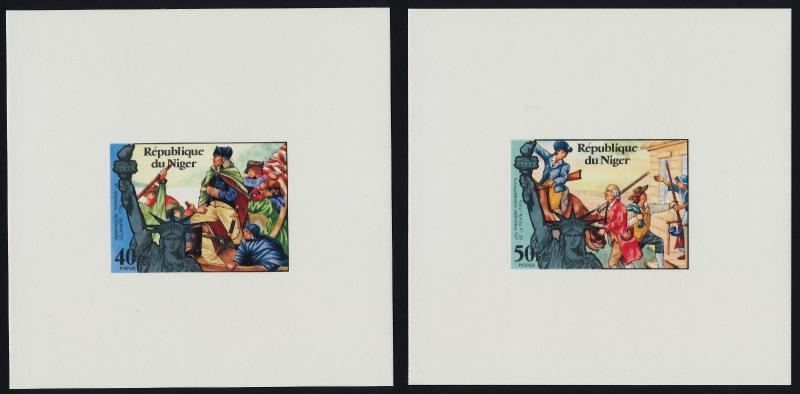Niger 352-3, C269-71 Color Proofs MNH Washington crossing the Delaware