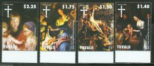 TUVALU 2014 CHRISTMAS ART PETER PAUL RUBENS SET OF FOUR STAMPS