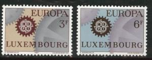 Luxembourg Scott 449-450 MNH** 1967 Europa set