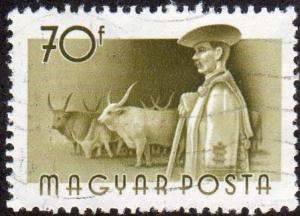 Hungary 1124 - Used - Cattle / Herdsman (1955) (1)