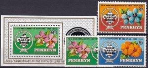Penrhyn Island  #219-22 MNH CV $9.70 (Z6119)