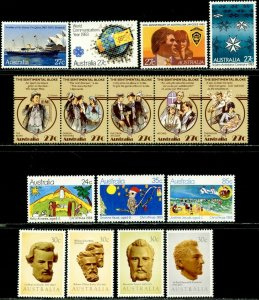 AUSTRALIA Sc#868-871, 881-888 1983 Seven Complete Sets OG Mint LH