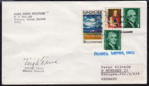 1969 Apollo 10 MSFN Station Waimea Kauai Hawaii signed by Station Director