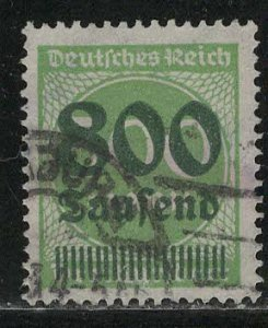 Germany Reich Scott # 264, used, exp h/s