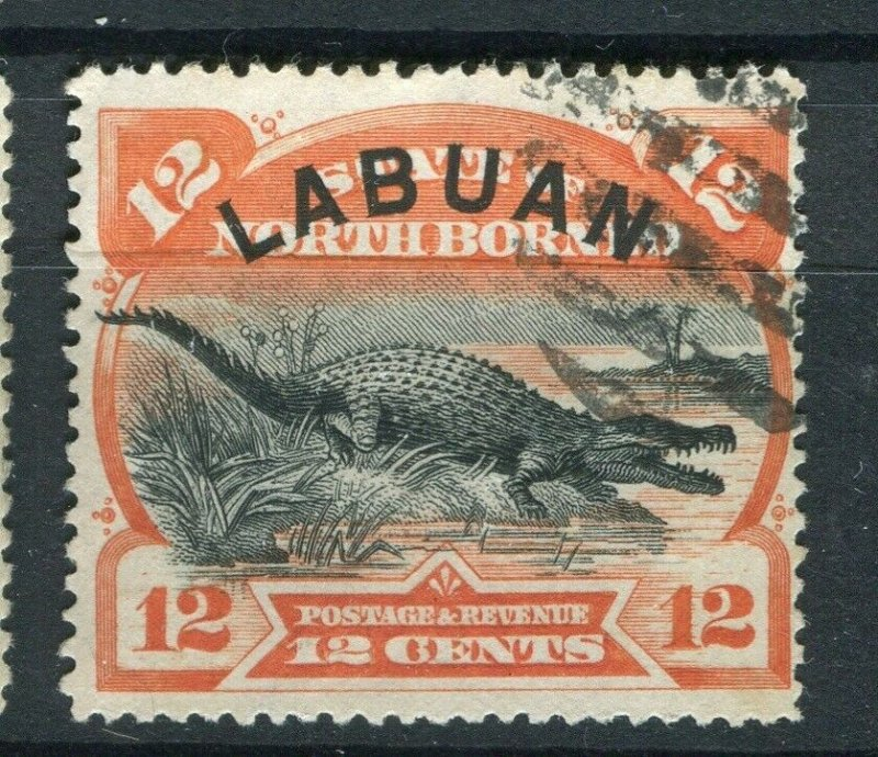 NORTH BORNEO LABUAN; 1890s classic Pictorial issue fine used 12c. value