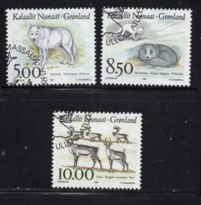 Greenland Sc 262-4 1993 Wildlife stamps used
