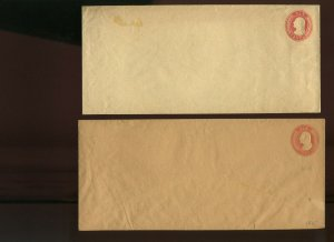 Scott U11-U12 Washington  Stamped Envelope Entires  (Stock 798-rz)