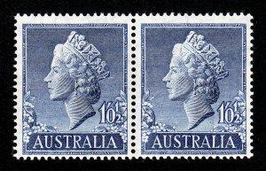 1955 AUSTRALIA STAMP 1 SHILLING AND ½ PENCE ⭐ SCOTT #279 PAIR ⭐ MNH-OG
