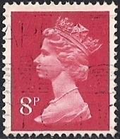 Great Britain #632A 8P Queen Elizabeth 2, used F-VF