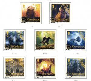 Isle of Man Sc 1013-0 2003 Lord of the Rings stamp set used