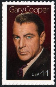 SC#4421 44¢ Legends of Hollywood: Gary Cooper Single (2009) SA