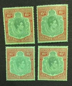 MOMEN: LEEWARD ISLANDS SG #113 SHADES & PAPERS MINT OG H LOT #198554-6171