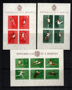 San Marino MNH lot of 3 465a