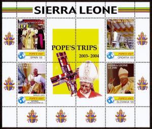 Sierra Leone 2837-8 MNH Pope John Paul II Travels