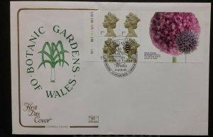 GB FDC SG2124bl UIPW38 4x 1st Booklet Pane CYL W1 Botanic Garden Label SHS