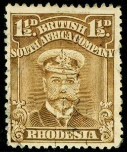 RHODESIA SG197, 1½d Brown-Ochre, FINE USED.