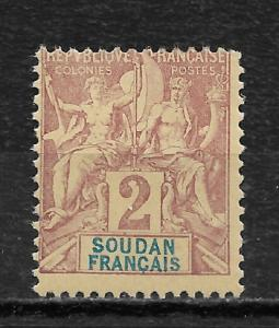 French Sudan 1892 Navigation & Commerce 2c Sc # 4,VF Mint Hinged* (MB-9)