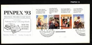 1993 Youth Classic Books Sc 2785-8 FDC unofficial PINPEX pictorial cancel