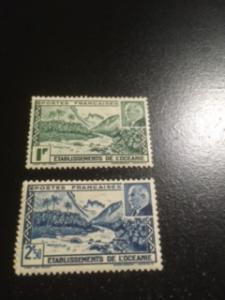 French Polynesia sc 125 a + b MHR