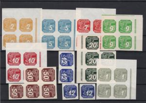 Bohemia and Moravia Mint Never Hinged Newspaper Stamps Blocks ref 22515