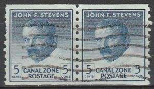 Canal Zone #155 F-VF Used Pair  (S2868)