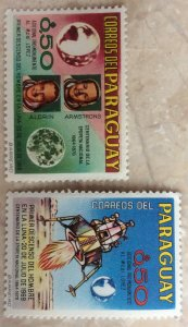 Paraguay space 1970 Y-1020/1021 Apollo 11  Armstrong and Aldrin
