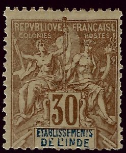 French India SC#12 Mint Fine SCV$47.50..Fill a key spot!!
