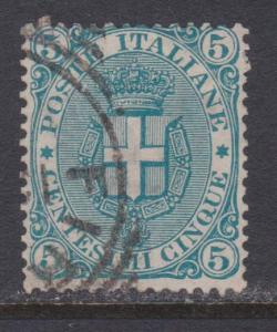 Italy # 67 , Arms of Savoy , F-VF Used Stamp - I Combine S/H