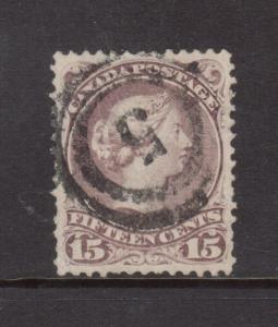 Canada #29c XF Used With Ideal 2 Ring 5 Cancel