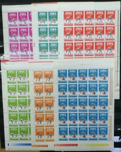 RM360 1978 ROMANIA FOOTBALL WORLD CUP ARGENTINA MICHEL 105 EURO #3506-11 6SH MNH