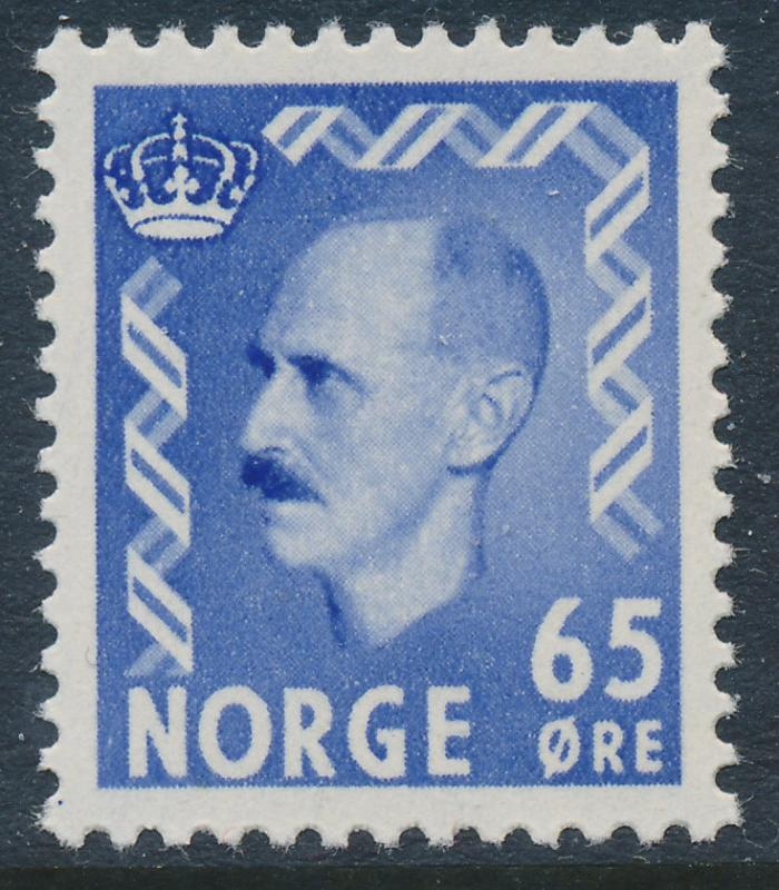 Norway Scott 349 (Facit 434), 65ø ultra Haakon, VF Mint NH