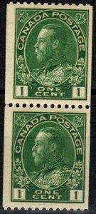 Canada #131 F-VF Unused Coil Pair CV $14.00 (X6119)